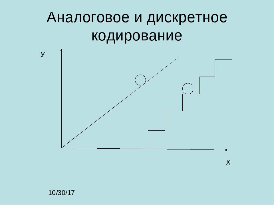 Аналоговое и дискретное кодирование Х У