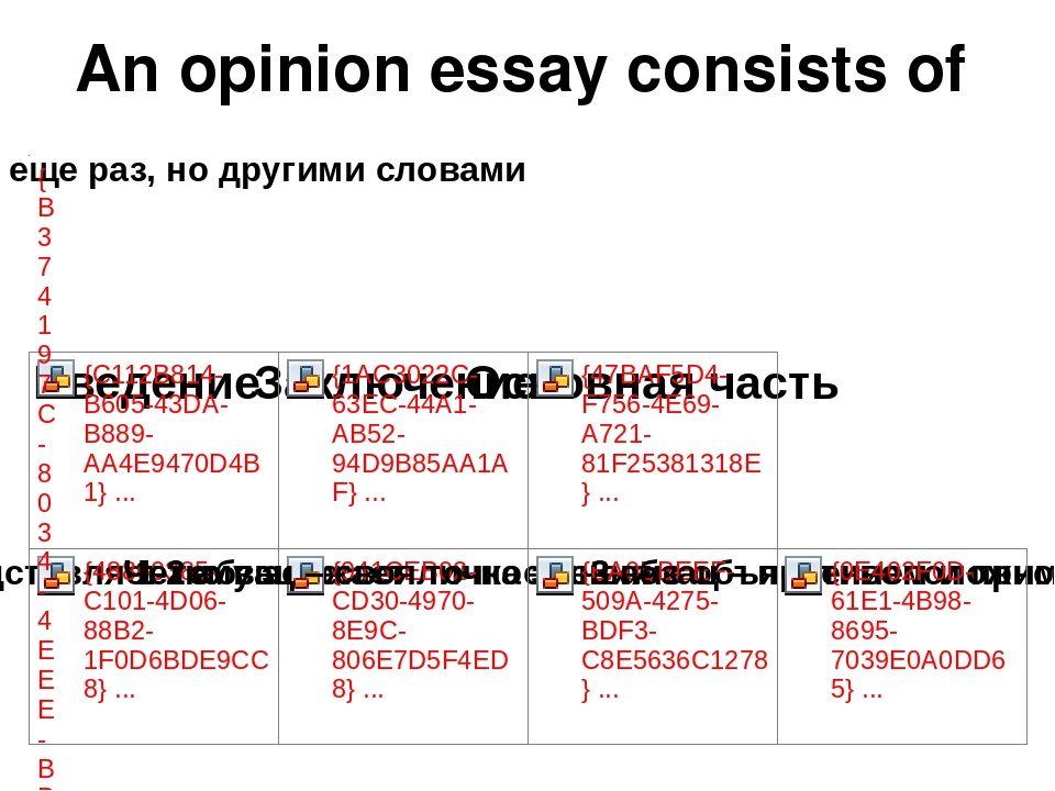 opinion essay structure
