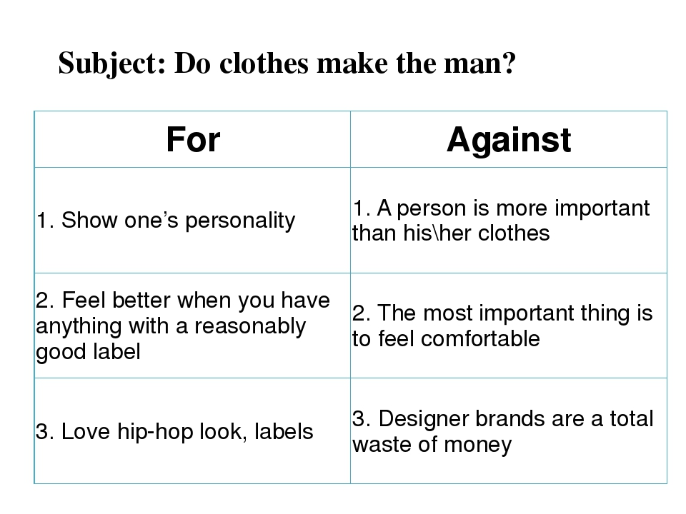 do clothes make the man