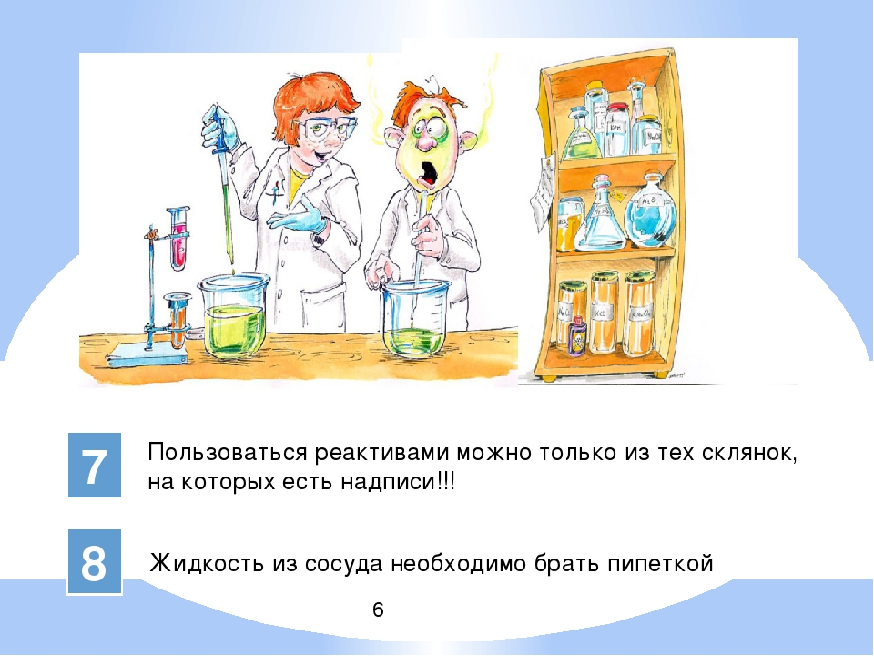 Техника безопасности на уроке химии картинки