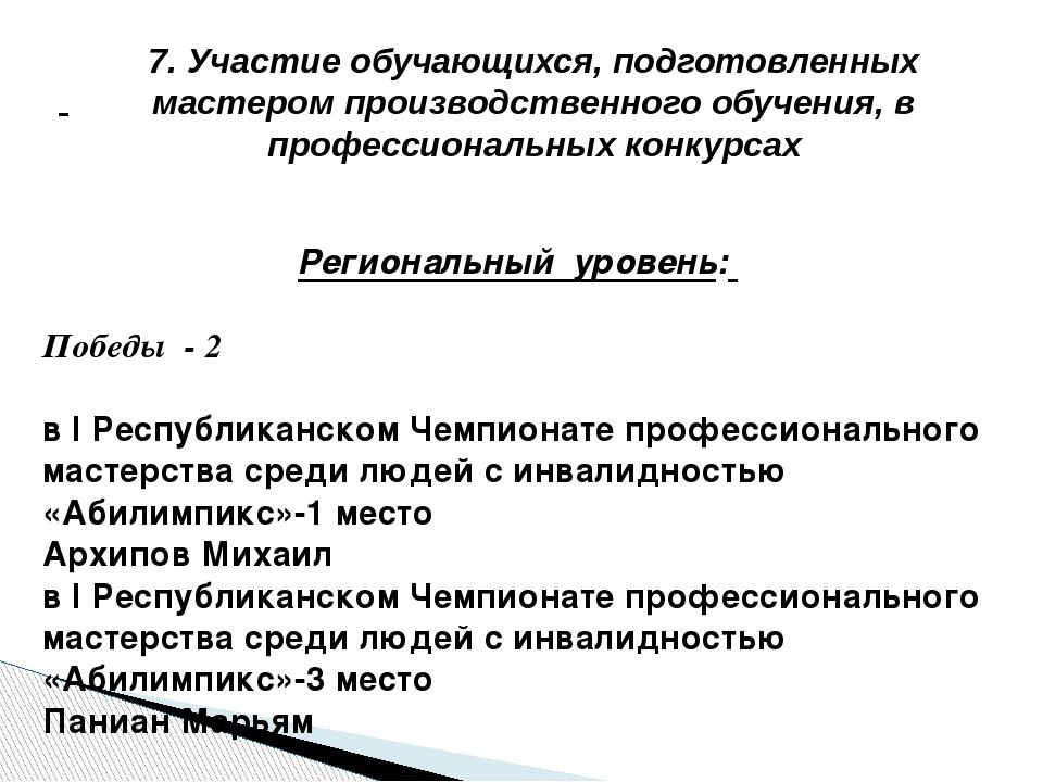 Региональный уровень: Победы - 2 в I Республиканском Чемпионате профессионал...