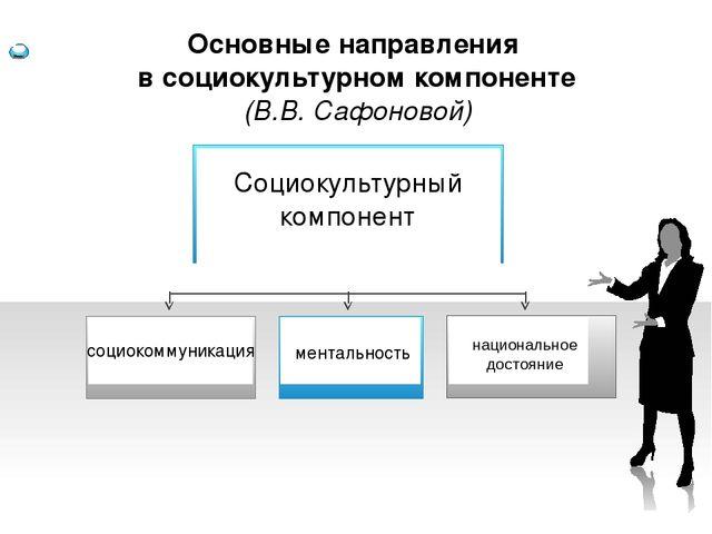 социокоммуникация ментальность Основные направления в социокультурном компон...