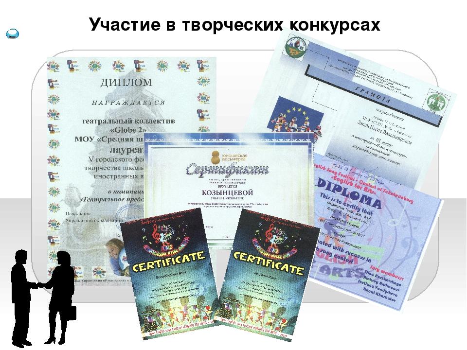 Участие в творческих конкурсах Content  Background information Summary Pers...