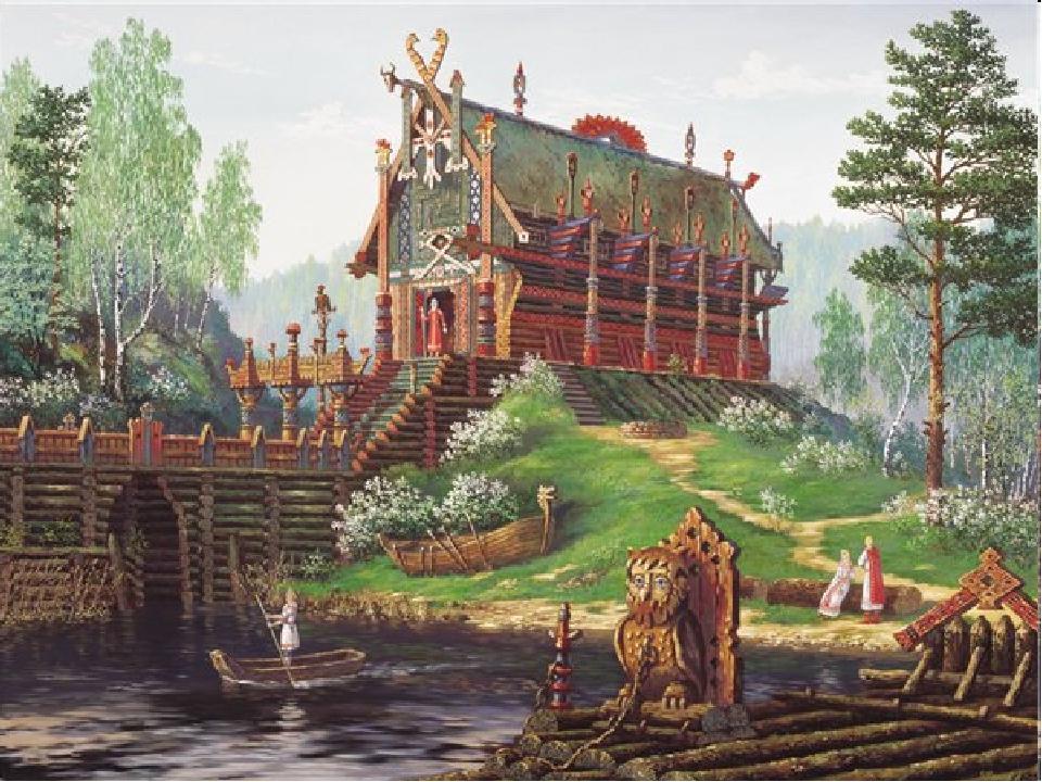 Поселения древних славян обычно располагались на возвышенных местах, находящ...