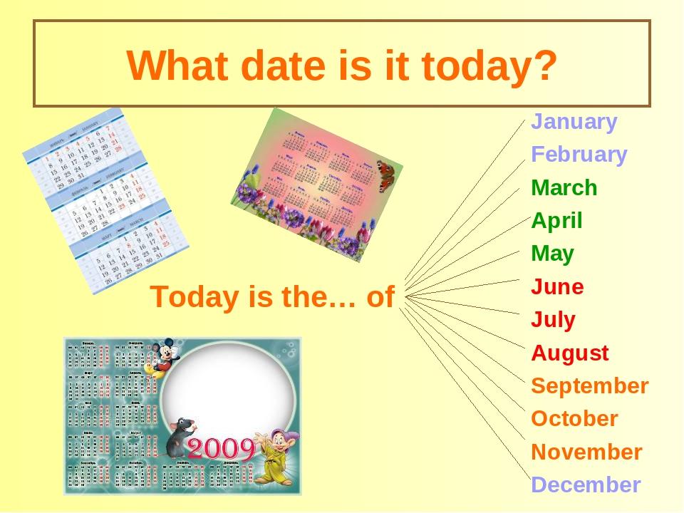 Картинки с датами на английскому