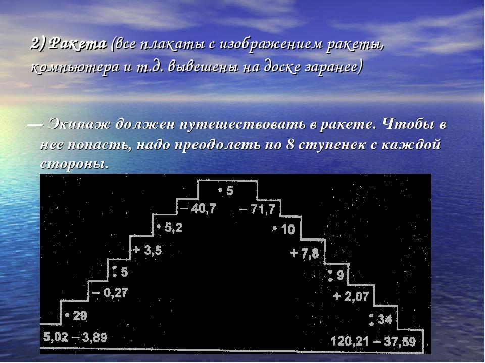 2) Ракета (все плакаты с изображением ракеты, компьютера и т.д. вывешены на д...