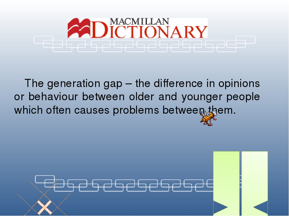 the generation gap between older and The ultimate generation gap of the 1960s updated on created by old people  there is not in general such a wide generation gap between themselves and their.