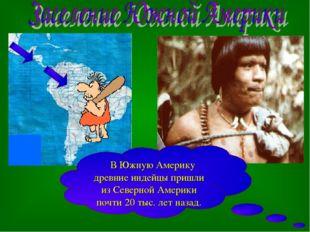 В Южную Америку древние индейцы пришли из Северной Америки почти 20 тыс. лет