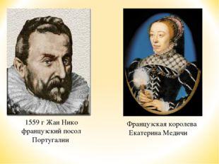 1559 г Жан Нико французский посол Португалии Французская королева Екатерина М