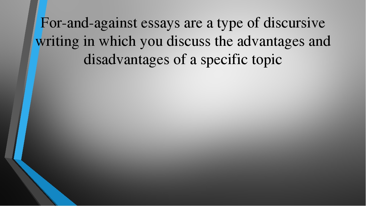 avantaj ve dezavantaj essay rnekleri
