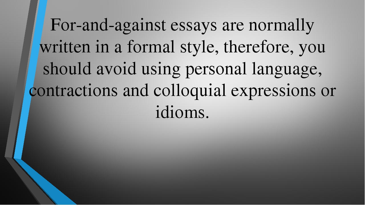 how should a personal essay be written