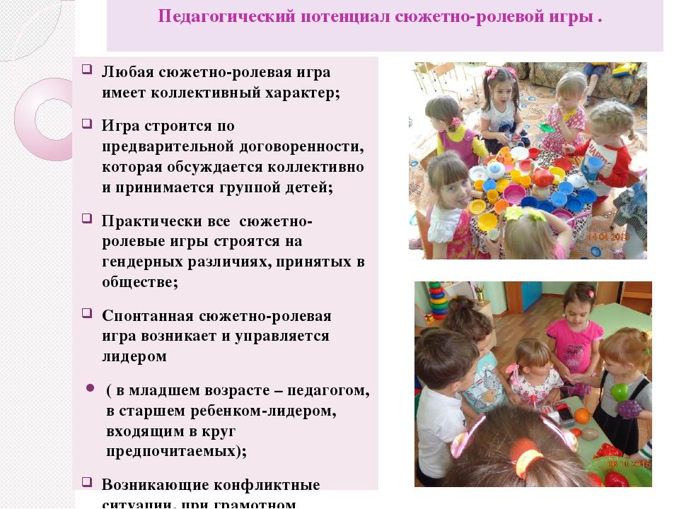 Дошкольная Психология Шпаргалки Сюжетно-ролевая Игра Структурные Компоненты
