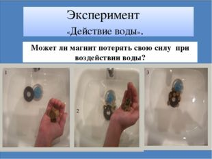 Эксперимент «Действие воды». Может ли магнит потерять свою силу при воздейст