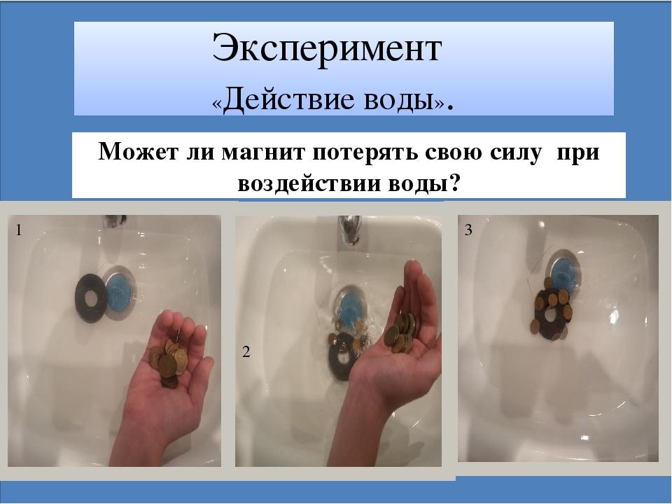 Эксперимент «Действие воды». Может ли магнит потерять свою силу при воздейст...