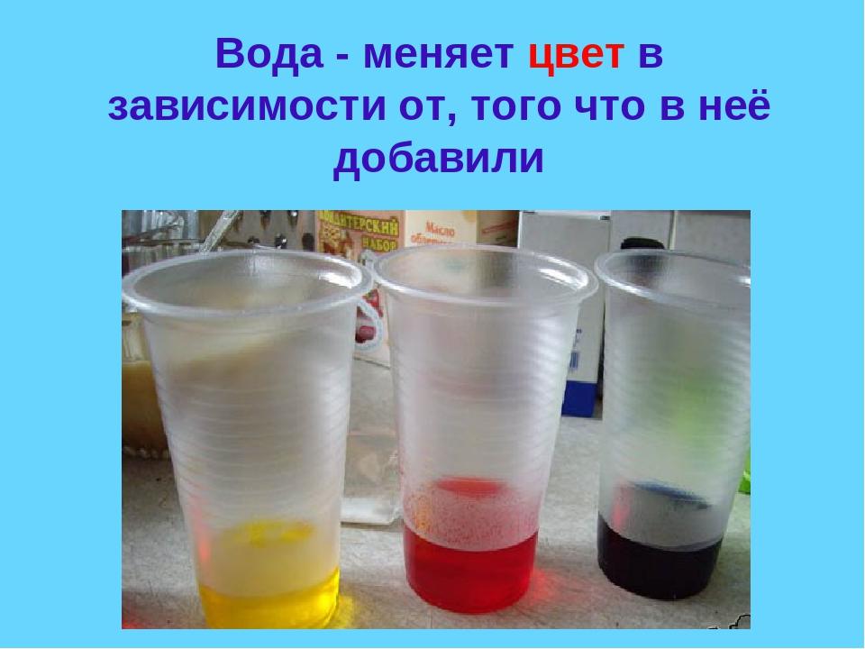 Картинки как вода меняет цвет