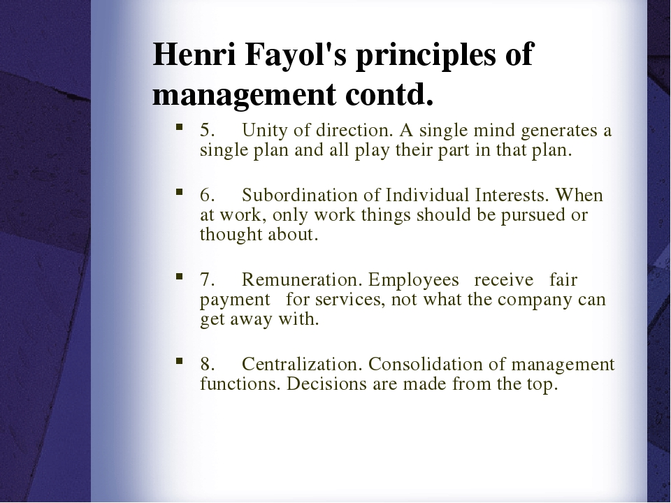 henri fayol 5 functions of managerial jobs Henri fayol's 14 principles of management have been a significant influence on modern management theory his practical list of principles helped early 20th century managers learn how to organize and interact with their employees in a productive way.