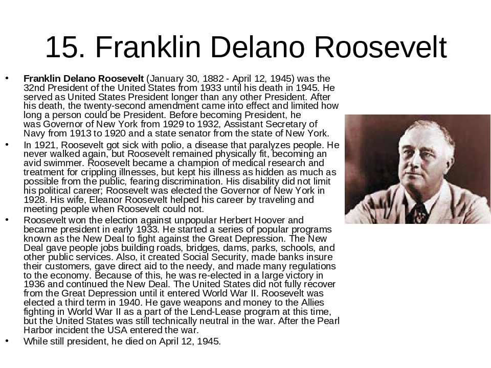 franklin delano roosevelt and his allies Franklin d roosevelt research paper franklin delano roosevelt redefined the powers of the government in the american people's lives also, in wwii conferences such as casablanca and teheran, roosevelt represented the country well in his efforts with the allies to stop nazi germany.
