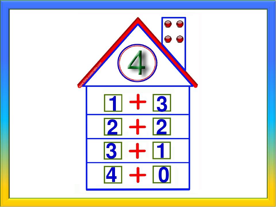 Прикольные картинки, картинка числовые домики для детей для занятия по математике