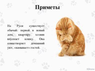 Приметы На Руси существует обычай: первой в новый дом, квартиру хозяин впуска