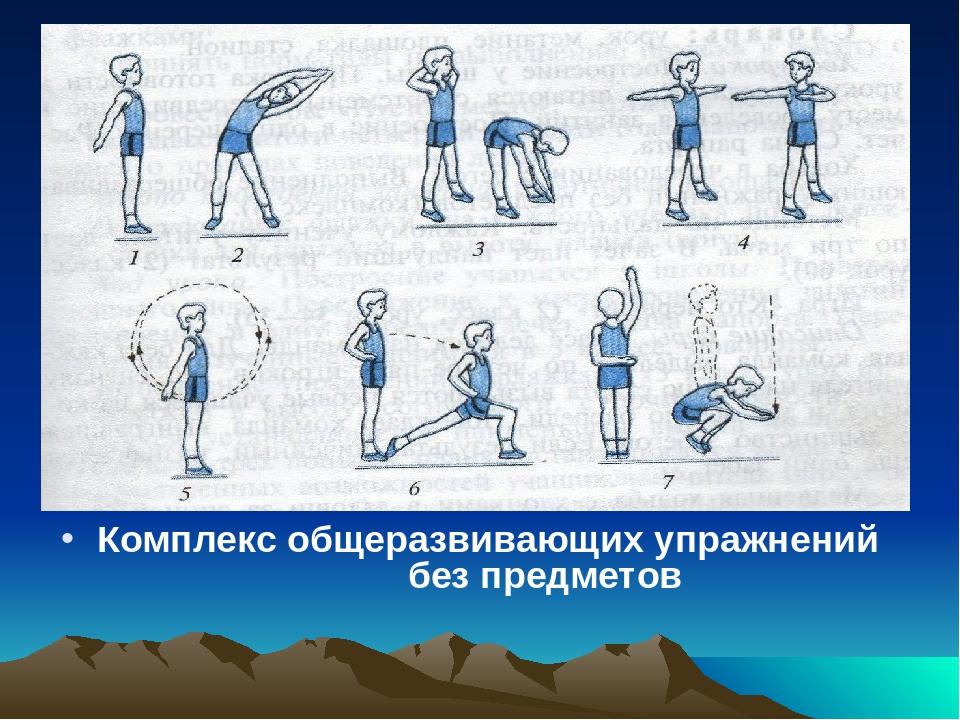 упражнения без предмета в картинках мировая