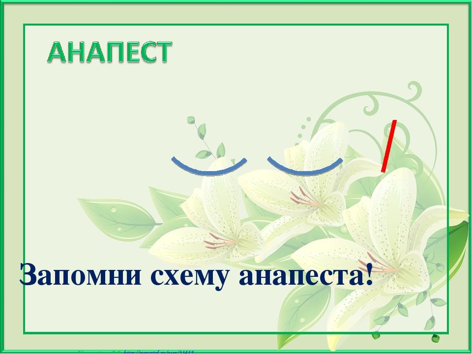 Запомни схему анапеста! Матюшкина А.В. http://nsportal.ru/user/33485