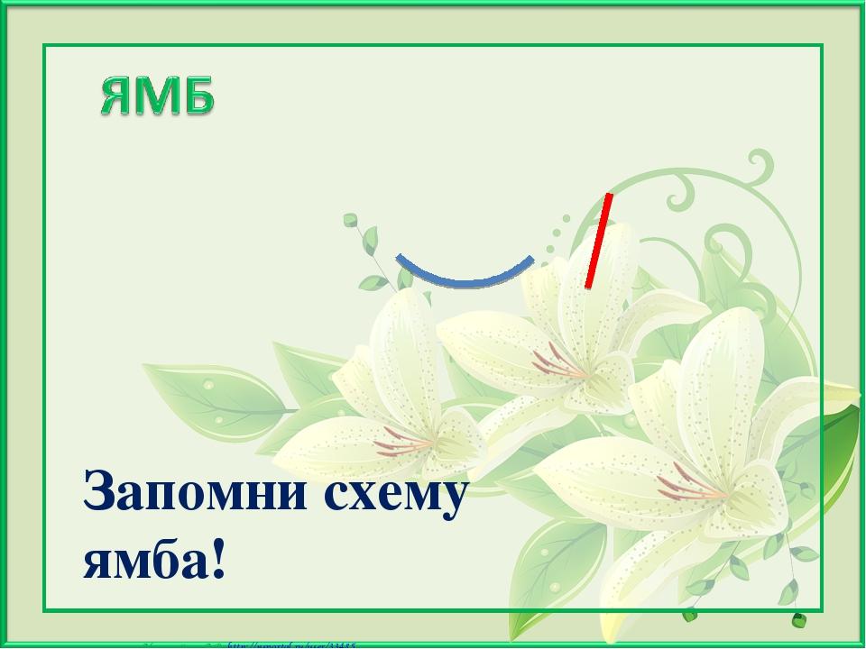 Запомни схему ямба! Матюшкина А.В. http://nsportal.ru/user/33485