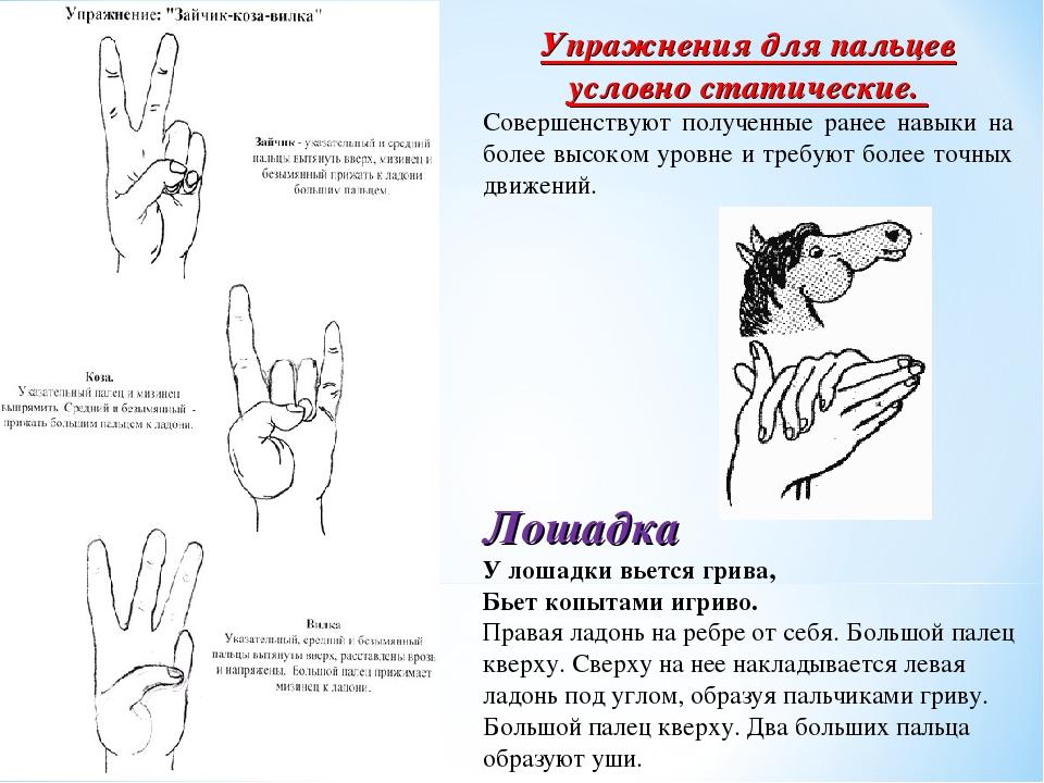 Гимнастика для пальцев с картинками