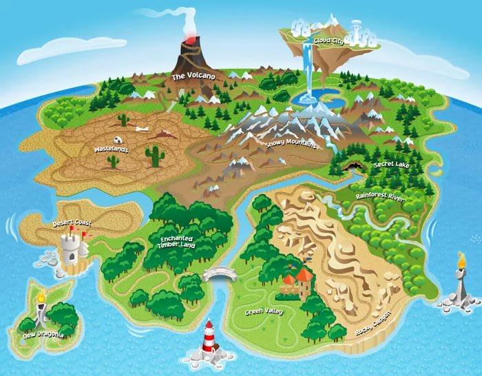 Картинка карты местности для детей