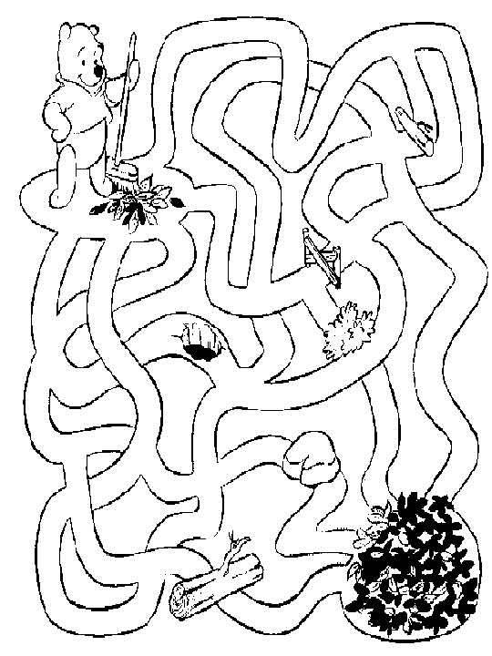Лабиринты или схема путь в картинках