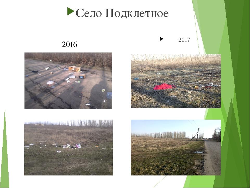 Село Подклетное 2017 2016