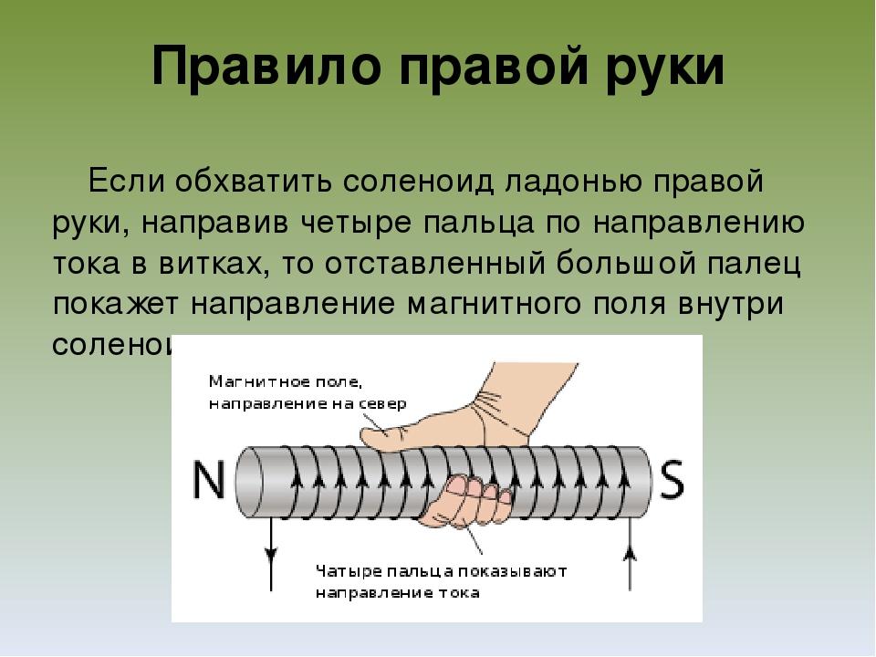 правило правой руки в фотографии