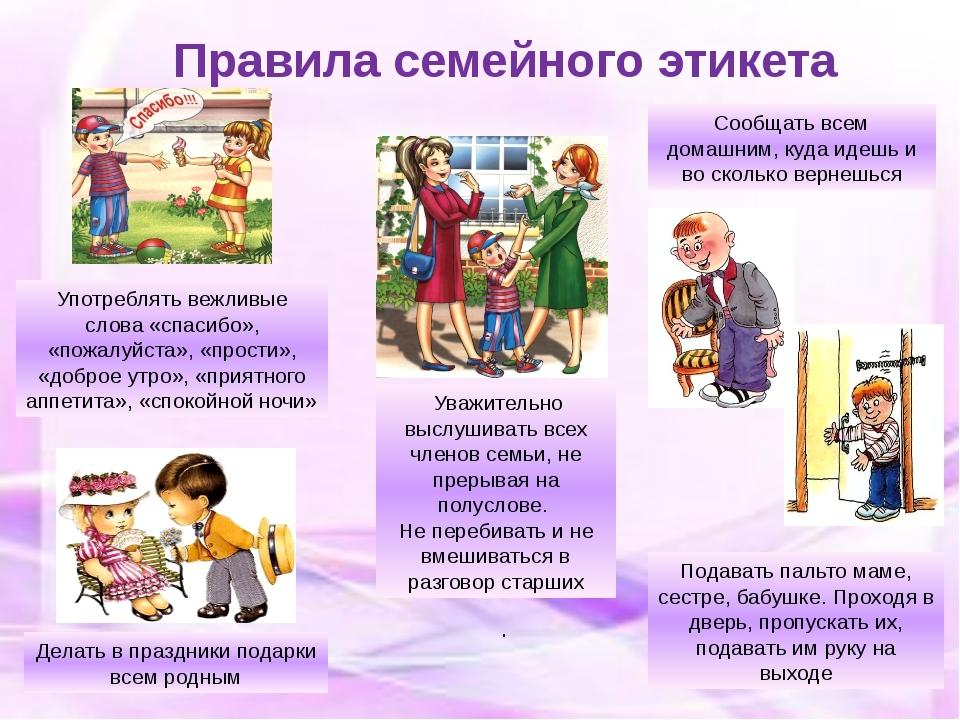 Картинки для детей правила поведения