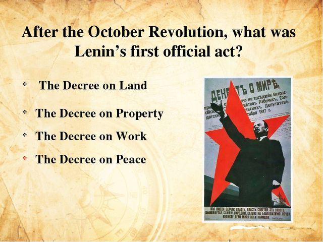 to what extent was lenin crucial Russian revolution – november 1917 following the march revolution, in november 1917 russia got the world's first communist government lead by lenin, communists took over the vital city of st petrograd and removed.