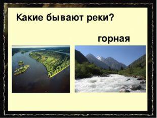 равнинная Какие бывают реки? горная
