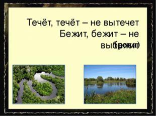 Течёт, течёт – не вытечет Бежит, бежит – не выбежит (река)