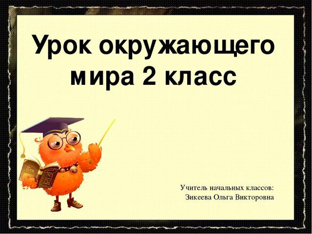 Урок окружающего мира 2 класс Учитель начальных классов: Зикеева Ольга Виктор...
