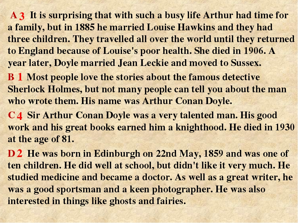 A It is surprising that with such a busy life Arthur had time for a family,...