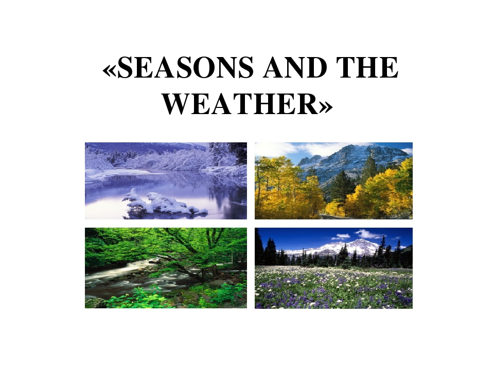 «SEASONS AND THE WEATHER»