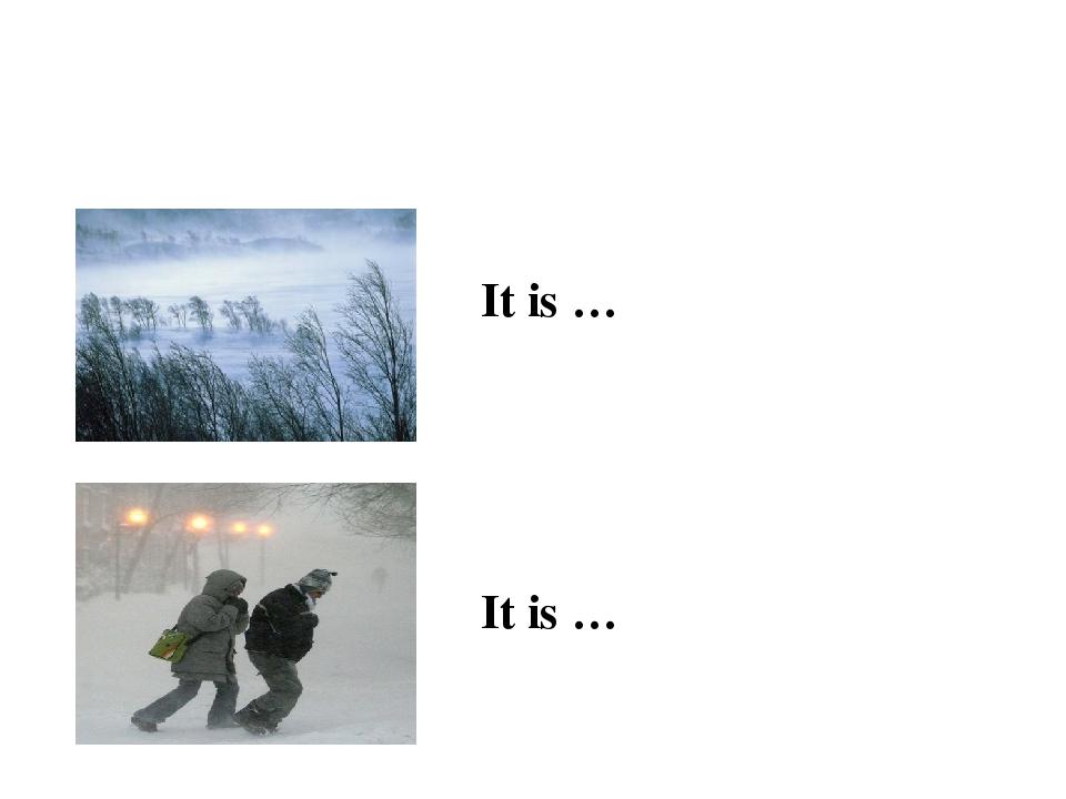 It is … It is …