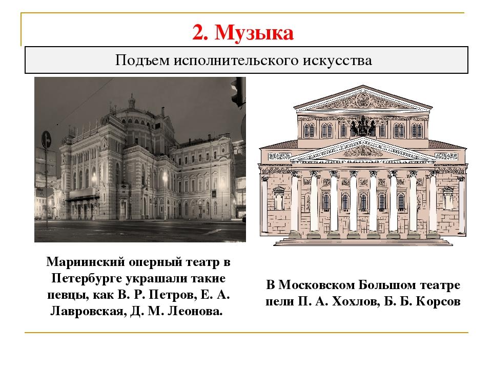 2. Музыка Подъем исполнительского искусства Мариинский оперный театр в Петерб...