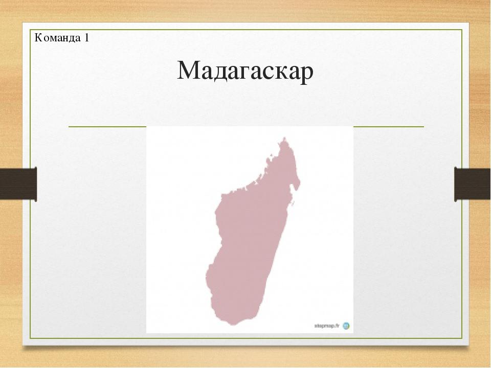 Мадагаскар Команда 1