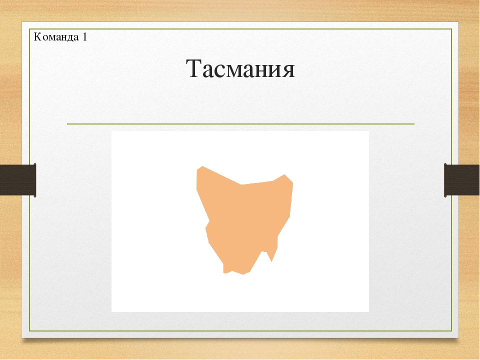 Тасмания Команда 1