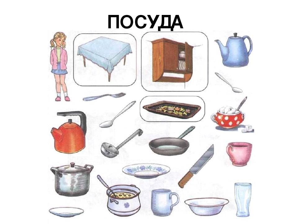 решение картинки для сада по теме посуда как его