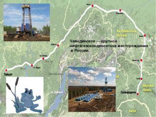 Чаяндинское — крупное нефтегазоконденсатное месторождение в России.
