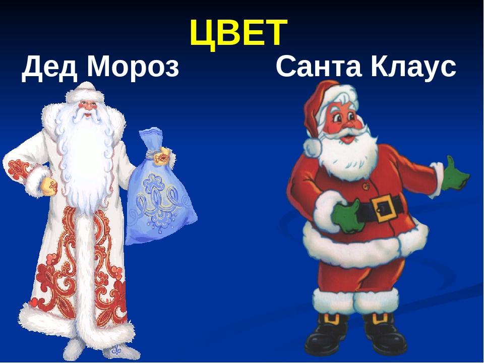 ЦВЕТ Дед Мороз Санта Клаус