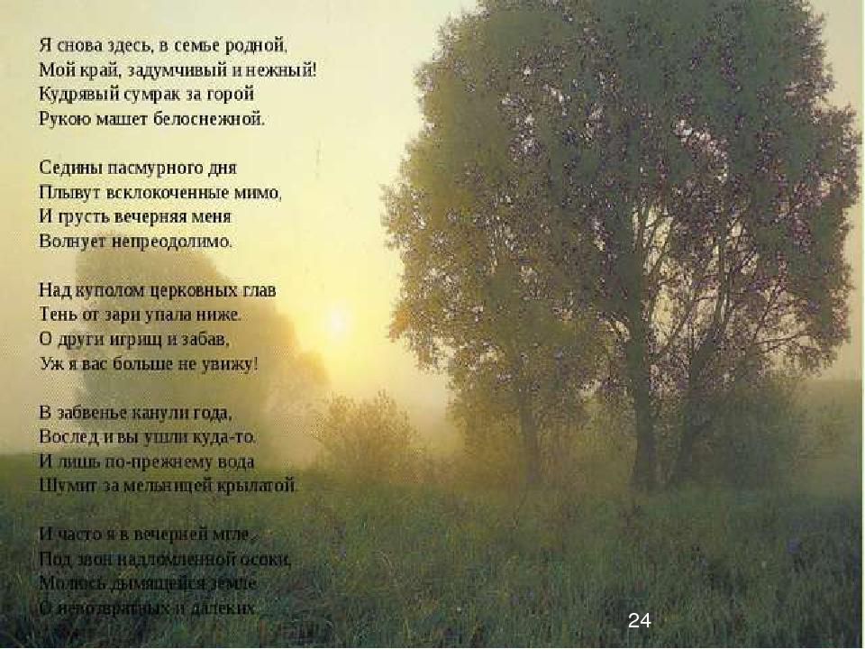 ты милой отчизны околица стихи иные нравы, времена