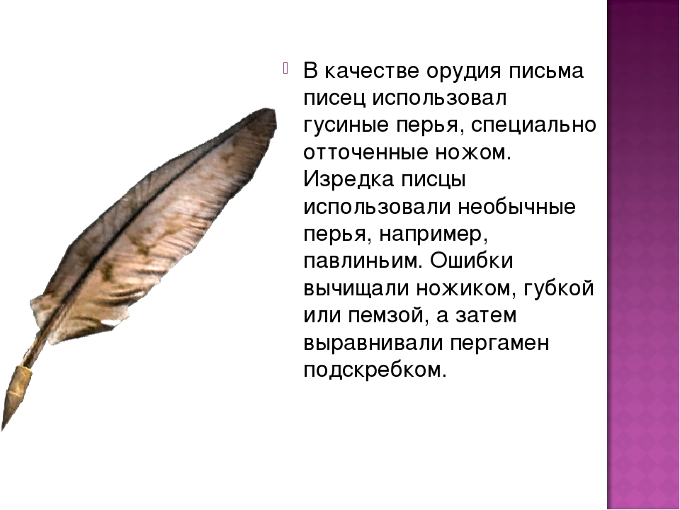 советской картинка гусиные перья которые в то время использовали для письма новых