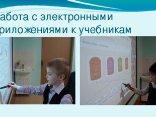 Работа с электронными приложениями к учебникам математики
