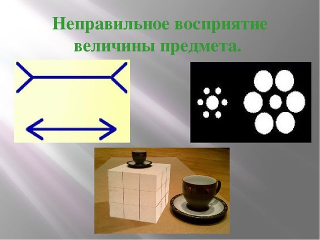 Реферат презентация по физике на тему Оптические иллюзии часть  Неправильное восприятие величины предмета