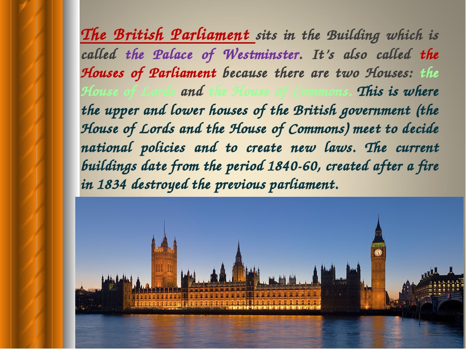 where members of parliment sit and